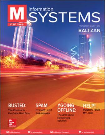 Test Bank for M: Information Systems 4th Edition Baltzan