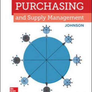 Solution Manual for Purchasing and Supply Management 16th Edition Johnson