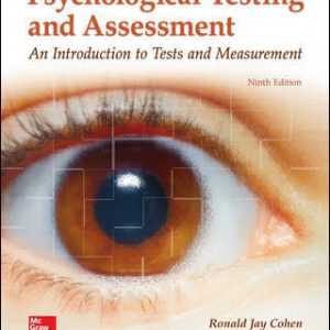 Test Bank for Psychological Testing and Assessment 9th Edition Cohen