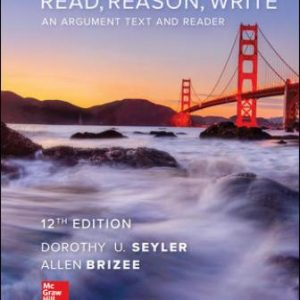 Solution Manual for Read, Reason, Write 12th Edition Seyler