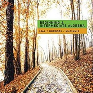 Test Bank for Beginning and Intermediate Algebra 7th Edition Lial