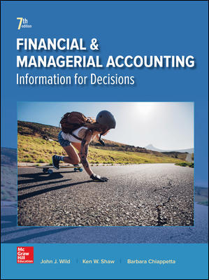 Test Bank for Financial and Managerial Accounting 7th Edition Wild