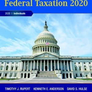 Test Bank for Pearson's Federal Taxation 2020 Individuals 33rd Edition Rupert
