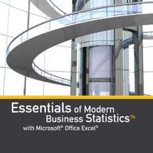 Test Bank for Essentials of Modern Business Statistics with Microsoft Office Excel 7th Edition Anderson