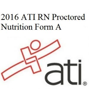 ATI RN Nutrition 2016 Form A