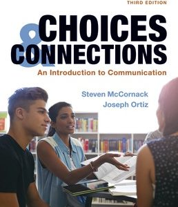 Test Bank for Choices & Connections An Introduction to Communication 3rd Edition McCornack