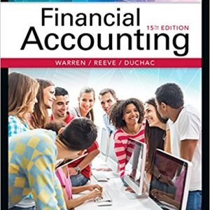 Test Bank for Financial Accounting 15th Edition Warren