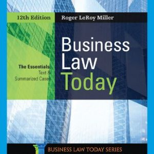 Test Bank for Business Law Today, The Essentials 12th Edition Miller