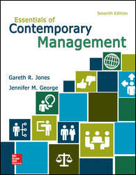 Test Bank for Essentials of Contemporary Management 7th Edition Jones