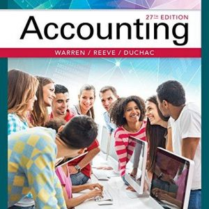 Solution Manual for Accounting 27th Edition Warren