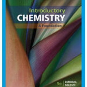 Test Bank for Introductory Chemistry: A Foundation 9th Edition Zumdahl