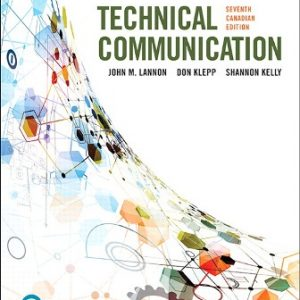 Test Bank for Technical Communications 7th Canadian Edition Lannon