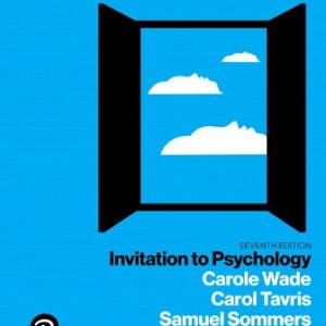 Test Bank for Invitation to Psychology 7th Edition Wade
