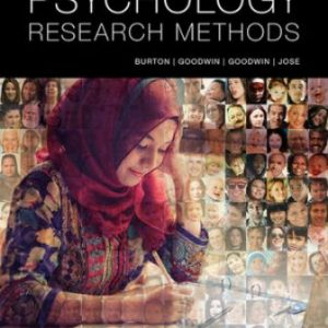 Test Bank for Psychology Research Methods 1st Edition Burton