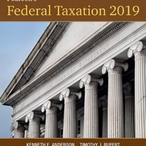 Solution Manual for Pearson's Federal Taxation 2019 Corporations, Partnerships, Estates and Trusts 32nd Edition Rupert