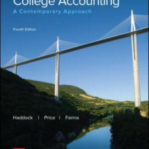 Test Bank for College Accounting: A Contemporary Approach 4th Edition Haddock
