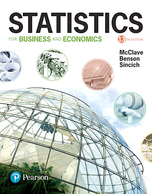Test Bank for Statistics for Business and Economics 13th Edition McClave
