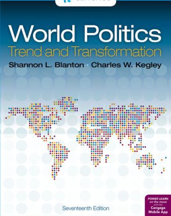 Test Bank for World Politics: Trend and Transformation 17th Edition Blanton