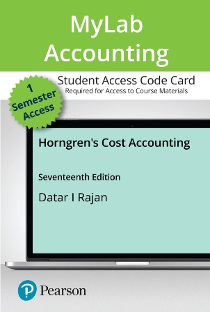 Test Bank for Horngren's Cost Accounting 17th Edition Datar