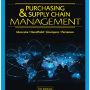 Solution Manual for Purchasing and Supply Chain Management 7th Edition Monczka