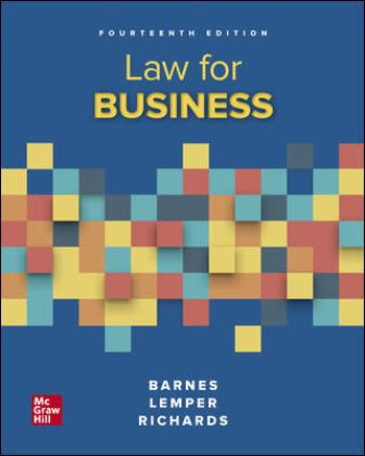 Solution Manual for Law for Business 14th Edition Barnes